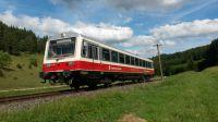 Ab 1. Mai fährt der fünfte Radexpress mit NE81-Triebwagen aus den 1980er-Jahren  Sonn- und Feiertags zwischen Ulm und Engstingen