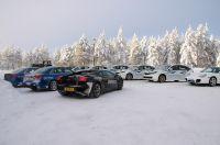 Fuhrpark vor traumhafter Winterkulisse (Lamborghini Gallardo, Audi RS 4, Porsche Carrera S, Subaru Impreza WRX STi)