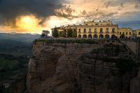 Wolkenspiel über Ronda, Teilnehmerbild aus Fotowettbewerb Faszination Spanien, C:Rüdiger Fischer, Joachimsthal