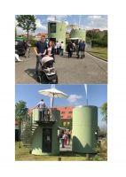 MITTWOCH: 19. Juni 2019: Aufstellung der 11 Hoteltürme im Stadthafen Neustrelitz