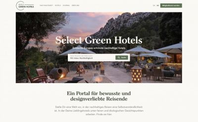 Select Green Hotels - Buchungsportal für nachhaltige Hotels (© Select Green Hotels)