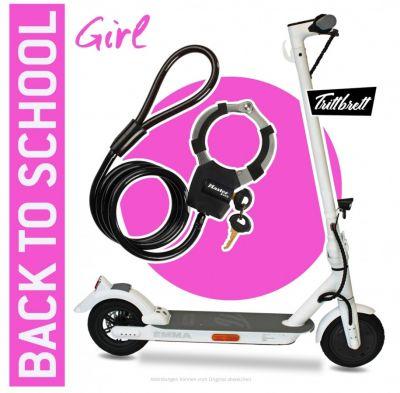 "das attraktive E-Scooter ""BACK TO SCHOOL"" Bundle TRITTBRETT EMMA City (© SIP Scootershop)"
