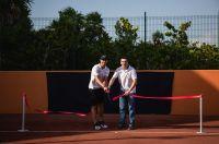 Rafa Nadal und Abel Matutes, CEO der Palladium Hotel Group, eröffnen das erste Rafa Nadal Tennis Centre in Costa Mujeres