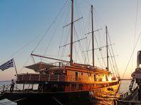 Die MS Galileo in Folgandros - Griechenland