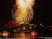 Feuerwerk Rhein in Flammen von der Festung bei Koblenz am Rhein.