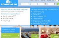 Screenshot der neuen Startseite von Romehome.de.