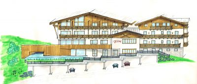 Skizze Umbau Hotel-Appartements Thurnerhof
