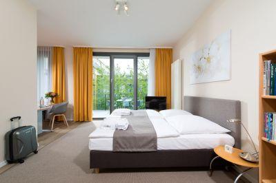 Die neuen Betten im Junior Apartment des ApartHotels