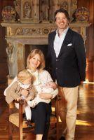 Erbprinz Christian und Erbprinzessin Jeannette zu Fürstenberg mit Kindern Prinz Tassilo und Prinzessin Cecilia