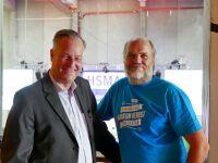 Foto: Karsten Jeß (Hauptgeschäftsführer der Servitex GmbH) und Haakon Herbst (Präsident und geschäftsführender Vorstand der HSMA)