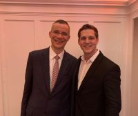 Rolf Slickers, Geschäftsführer Servitex GmbH und Philipp Nagel, Geschäftsführer Vienna Textilservice (v.l.n.r.).