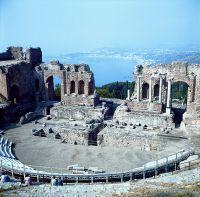 Italien Sizilien Taormina Römisches Theater