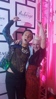 Julian F. M. Stoeckel und Antje Last, Inhaberin des Berliner Kult Hotel Auberge