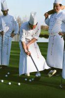 Spitzenköche auf dem Golfplatz bei der Golf WM im Hartl Resort