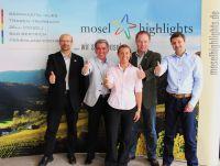 """Die fünf Tourismus-Experten der Touristischen Arbeitsgemeinschaft """"Moselhighlights"""""""