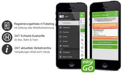 easy.GO 4.0: ÖPNV-App im neuen Look & Feel