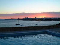 Sonnenuntergang von der Terrasse des Veranstaltungsortes