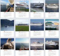 12 Monatblätter mit völlig unbearbeiteten Bildern