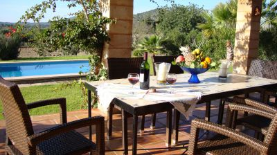 Die Finca Casa Maria mit dem großen Pool