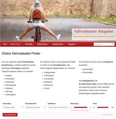 Online-Fahrradsattel-Finder