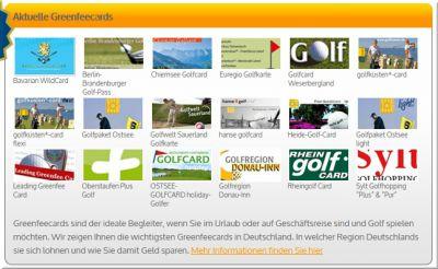 Der größte Greenfeecard-Vergleich   greenfee24 Deutschlands Nummer Eins Golfportal