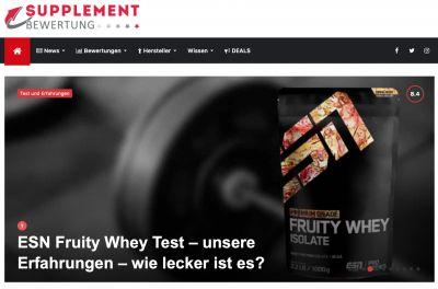 Bild: Screenshot der Webseite: Supplement-Bewertung.de