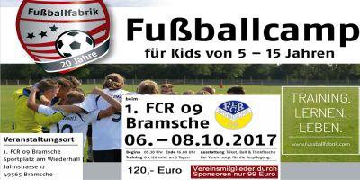 Fussballcamp nach Ingo Anderbrügge gastiert beim 1. FCR 09 Bramsche
