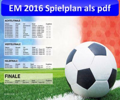 EM 2016 Spielplan von fooneo