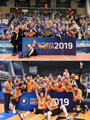 ERIMA Volleyballteams MTV Stuttgart und Berlin Recycling Volleys gewinnen Deutsche Meisterschaft (@www.tombloch.de, @Günther Kram)