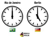 Zeitverschiebung Brasilien-Deutschland WM 2014