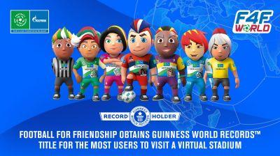 Football for Friendship stellt neuen GUINNESS WORLD RECORDS™ für die meisten Nutzer eines virtuellen Stadions auf. Foto: F4F