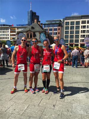 Die Athleten des Team Sportona in Frankfurt