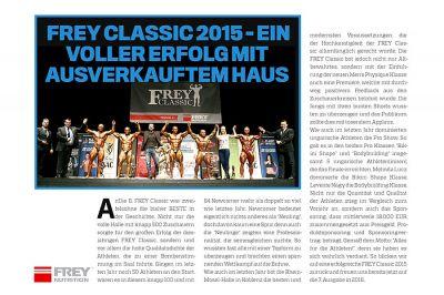 Men's Fitness berichtet über die FREY Classic 2015