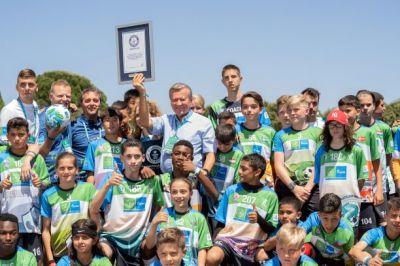 """""""F4F"""" hat einen Guinness-Weltrekord-Ziel: Die meisten Teilnehmer der Welt bei einem Online-Fußball-Event. (Quelle: AGT/F4F)"""