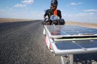 Ein Solar-Bike in der kasachischen Steppe (Symbolfoto - Sun Trip 2013)