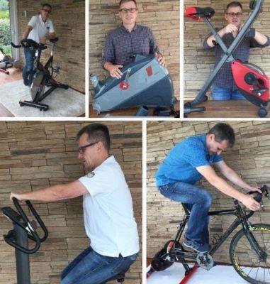 Armin Lenz beim Heimtrainer testen.