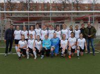 Die SC Amicitia München Damenmannschaft mit ihren neuen Talent Garden Trikots