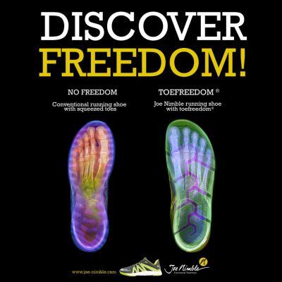 Joe Nimble bietet Zehenfreiheit statt die Füße einzuengen (© )