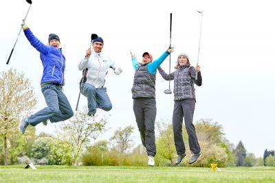 Offizielle Saisoneröffnung im Quellness Golf Resort Bad Griesbach - viel Spaß hatte der Flight von Sandra Kiriasis & Tino Schuster