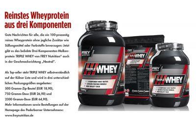 Reinstes Wheyprotein aus drei Komponenten