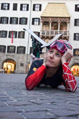 Ski-Komödiantin Tanja Ghetta
