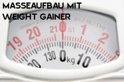Masseaufbau mit Weight Gainer