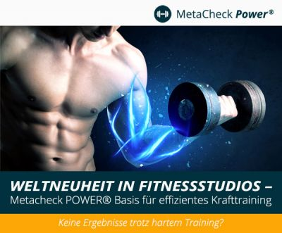 Weltneuheit in Fitnessstudios - Metacheck POWER