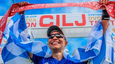 Mareile Hertel (Rosenheim, 33) gewinnt IUTA Triathlon World Cup 2016 mit neuem Streckenrekord. Foto: © Montefuego Sport Marketing