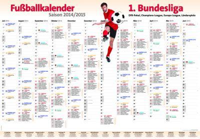 """Alle Spiele der Bundesliga auf einen Blick: Das """"XXL-Bundesliga-Poster 2014/15"""" für alle Fußballbegeisterten"""
