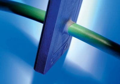 Die Kabeldurchführung KDP/F der Murrplastik Systemtechnik mit Membrantechnologie erfüllt die hohe Schutzklasse IP 65.