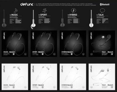 Markenzeichen von Defunc ist die sinnige Kennzeichnung der Verpackungen für die Nutzer nach ihren Bedürfnissen