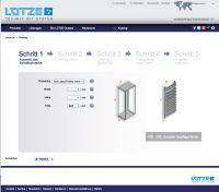 Der LÜTZE LSC AirSTREAM Online-Konfigurator. Schritt Eins: Definition von Schaltschranktyp und -größe