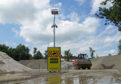 """Das gemeinsam entwickelte Kameraüberwachungssystem """"Video Guard"""" sorgt für mehr Sicherheit auf Baustellen. Foto: Video Guard"""