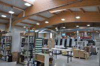 AS LED Lighting Hallenstrahler Classic Line (HCL) bei Firma Esta Druck GmbH, Huglfing